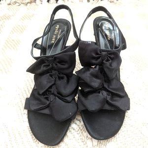 Kate Spade Multi Black Bow Heels